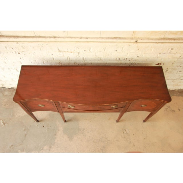 Kittinger Hepplewhite Inlaid Mahogany Sideboard Buffet For Sale In South Bend - Image 6 of 11