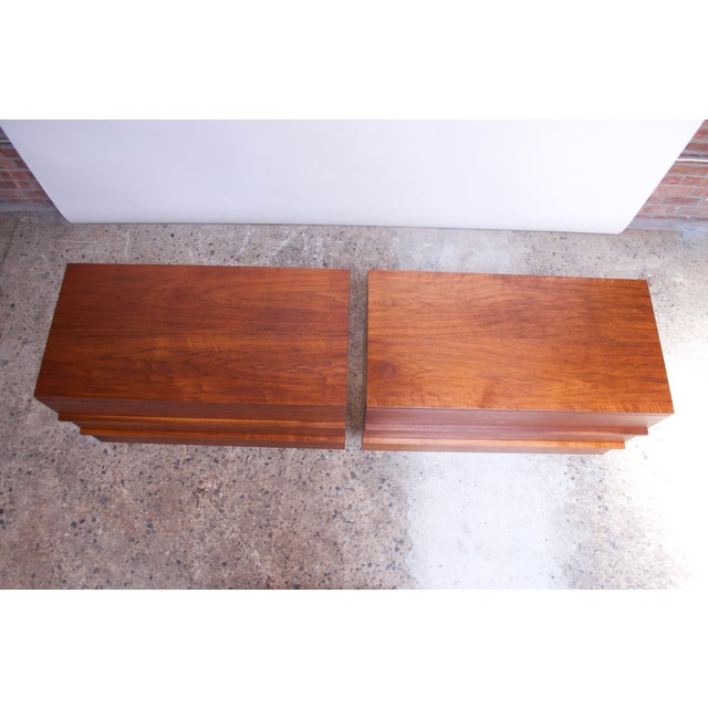 Pair of Mel Smilow Three-Drawer Walnut Chests For Sale In New York - Image 6 of 13