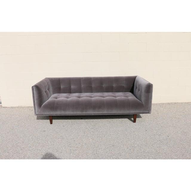 Modern Velvet Tufted Sofa - Image 2 of 10