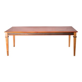 Country Style Reclaimed Pine Barnwood Farm Table