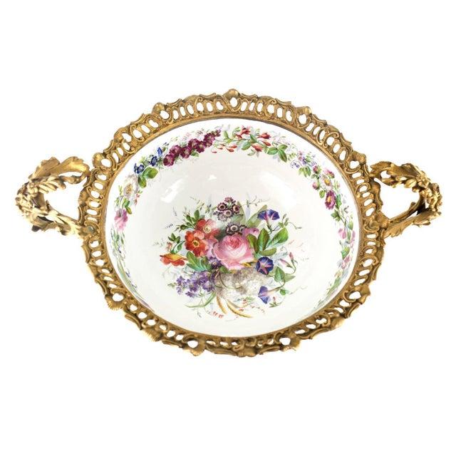 Manufacture de Sevres 19th Century Sevres Style Porcelain & Gilt Bronze Centerpiece For Sale - Image 4 of 5