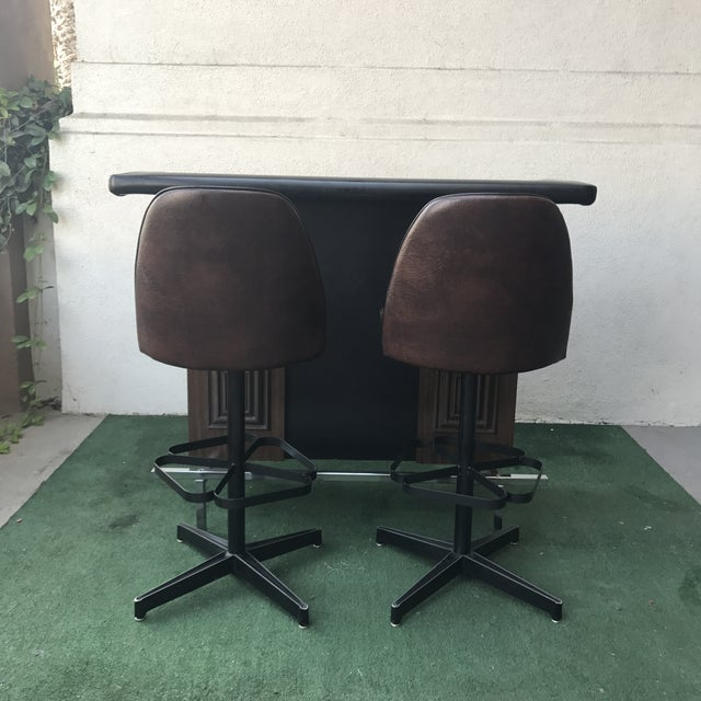 Wood Mid-Century Virtue of California Bar & Stools For Sale - Image 7 of 8