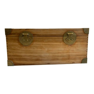 Asian Style Wooden Blanket Chest For Sale