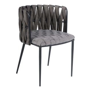 Showroom Sample Milano Dining Chair in Gray For Sale