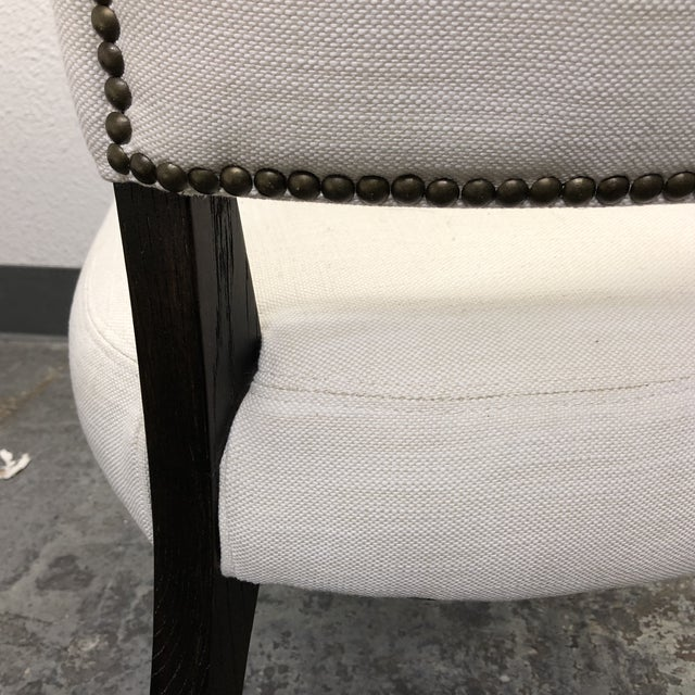 Set of Five Restoration Hardware Adèle Fabric Side Chairs For Sale - Image 12 of 13