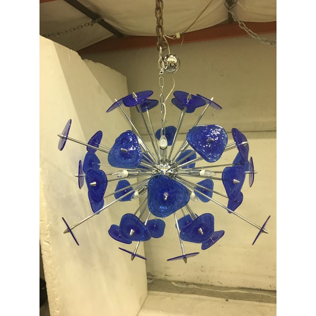 Contemporary Blue Murano Glass Sputnik Chandelier For Sale - Image 12 of 12