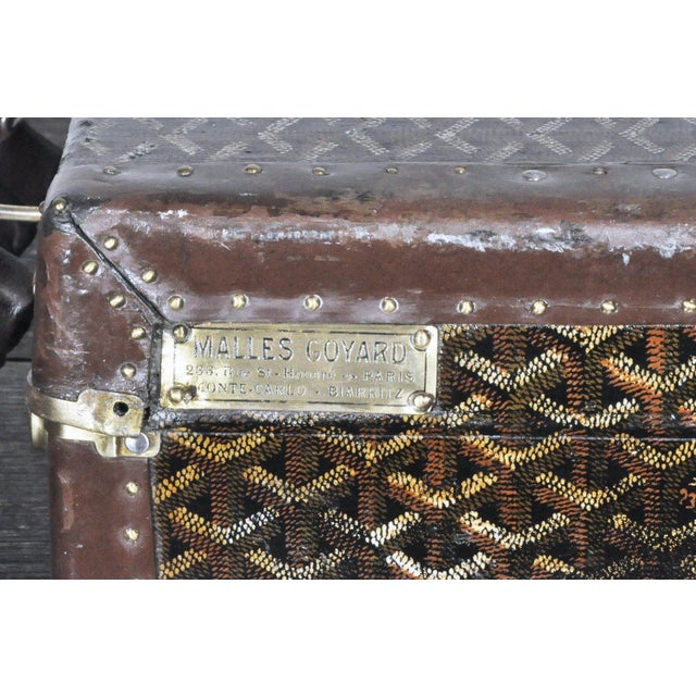 19th Century Traditional Goyard Suitcase For Sale In Phoenix - Image 6 of 7