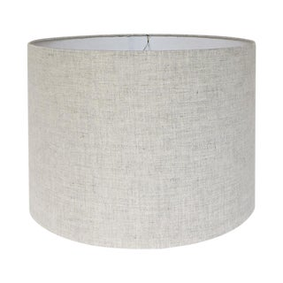 New, Made to Order, Natural Linen, Medium Drum Shade For Sale