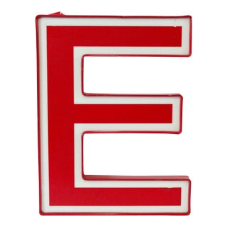 Red and White Letter E For Sale