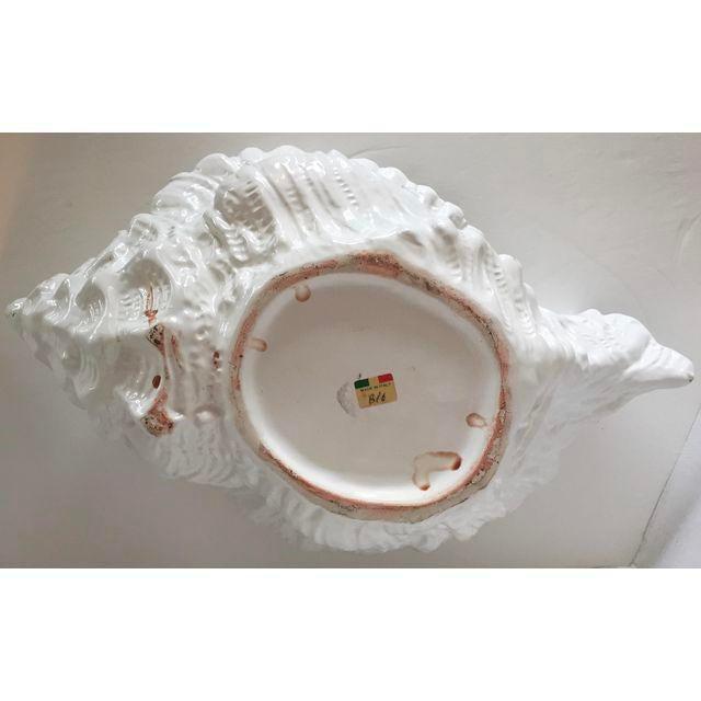 White Porcelain Italian Shell Planter - Image 4 of 8