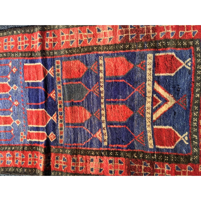 "Vintage Persian Mehebad Small Area Rug - 2'7""x4'3"" - Image 3 of 9"