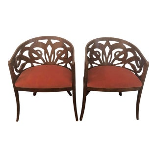 Hand Carved Italian Chairs - a Pair For Sale