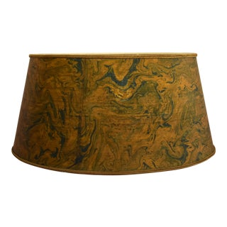 1960s Burl Wood Style Stiffel Lamp Shade by Tommi Parzinger For Sale