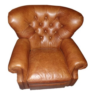 Restoration Hardware Churchill Leather Recliner