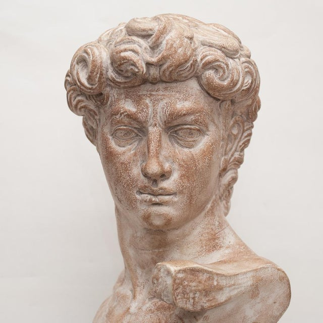 Mid Century Ceramic Bust of David For Sale - Image 10 of 13