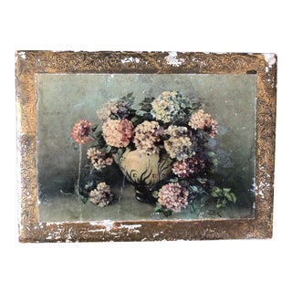 Vintage Florentine Floral Green Gilt Box For Sale