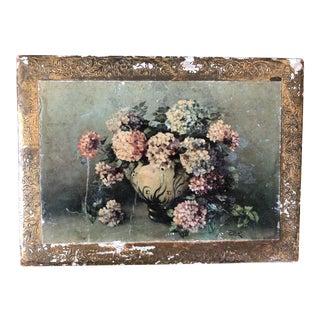 Vintage Florentine Floral Green Gilt Box
