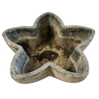 French Mid-Century Cement Star Planter For Sale