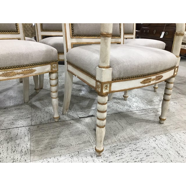 Set of 6 19th Century French Empire Chairs For Sale - Image 4 of 10