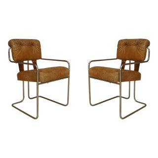 1930s German Art Deco Chrome Arm Chairs- Set of 4 For Sale