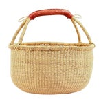 Image of African Bolga Woven Natural Basket For Sale