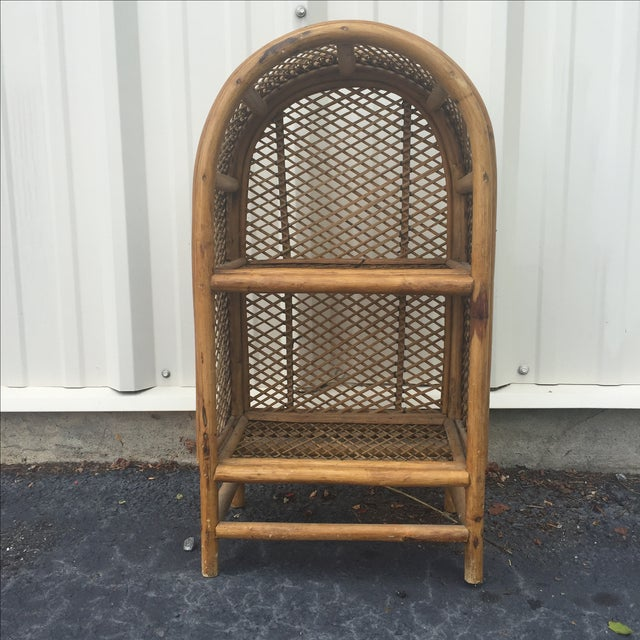 Boho Chic Vintage Rattan Shelf For Sale - Image 3 of 8