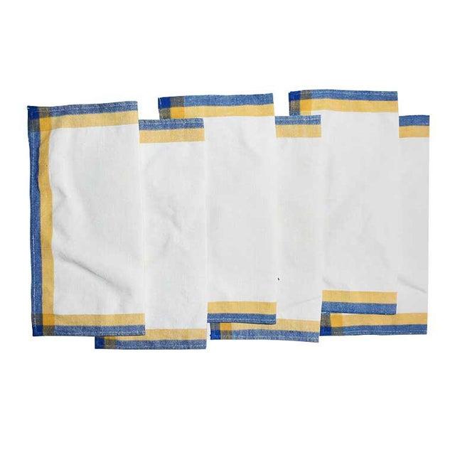 Linen Square Cloth Dinner Napkin Set-Set of 6 For Sale - Image 6 of 6