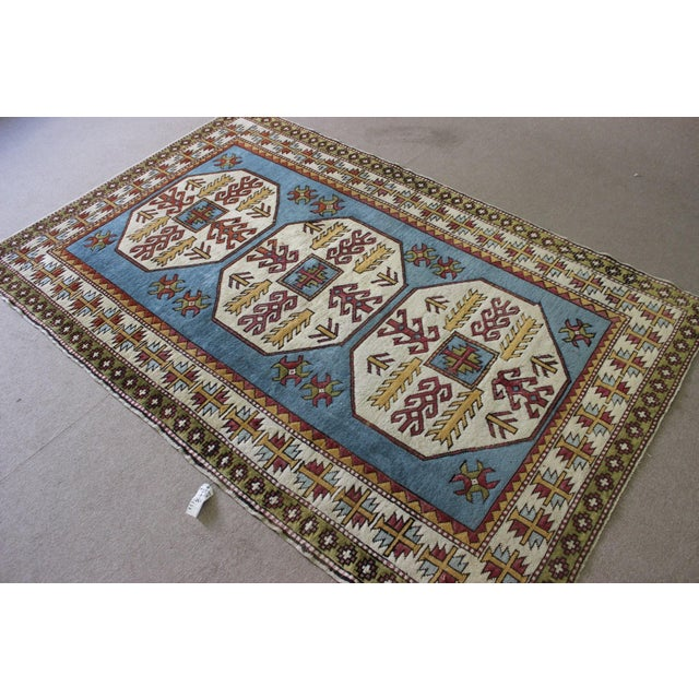 "Turkish Anatolian Area Rug - 5'2"" X 8'1"" - Image 6 of 7"