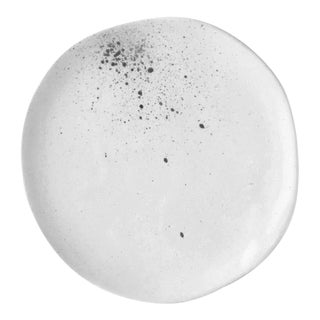 "Contemporary Handmade White ""Splatter"" 8"" Lunch/Dessert Plate by FisheyeCeramics For Sale"