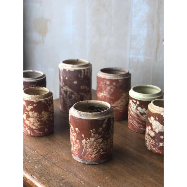 Antique Pugliese Marbleized Canister For Sale - Image 9 of 10