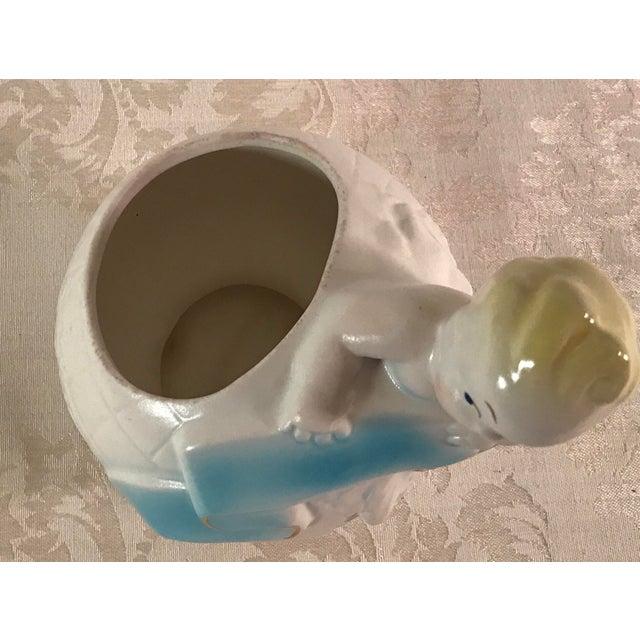 Art Deco Baby & Globe Ceramic Vase - Image 4 of 11