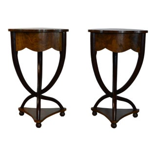 20th Century Art Deco Style End Tables - a Pair For Sale