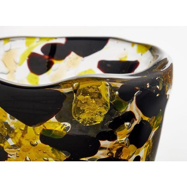 "Contemporary Murano Glass ""Pollock"" Vase For Sale - Image 10 of 12"