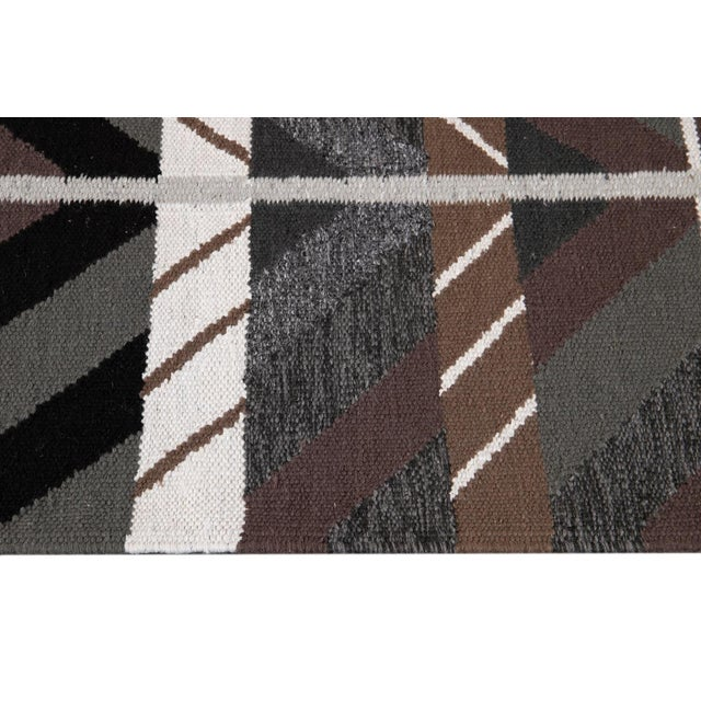 Textile 21st Century Modern Swedish Style Runner Rug, 3' X 14' For Sale - Image 7 of 9