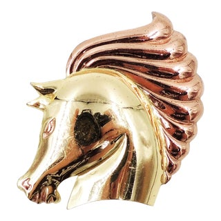 1940s Monet Book Piece Horse Head Brooch For Sale