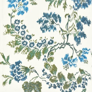 Scalamandre Kew Gardens Warp Print Fabric For Sale