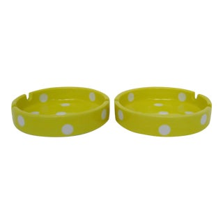 Polka Dot Ashtrays, a Pair For Sale