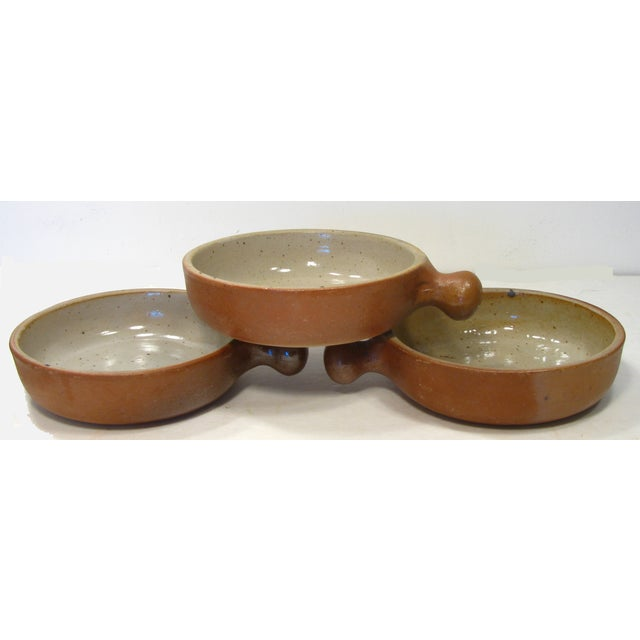 Vintage French Stoneware Ramekins - Set of 3 - Image 3 of 5