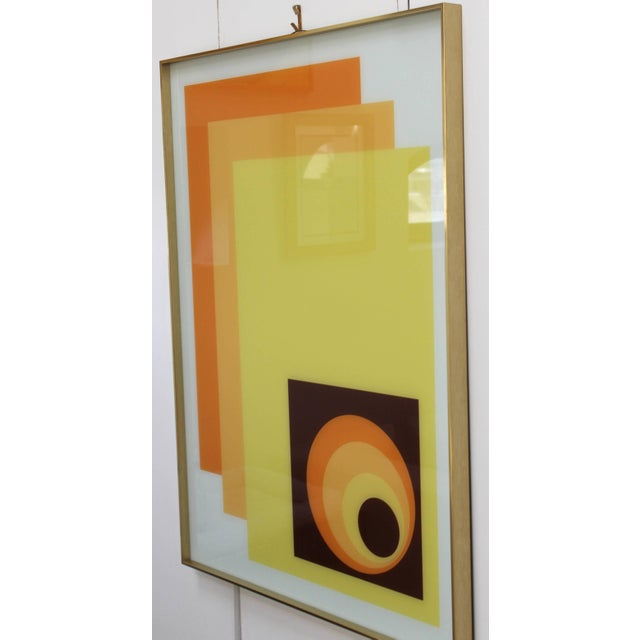 Mid-Century Modern 1970s Modern Op Wall Art by Turner For Sale - Image 3 of 11