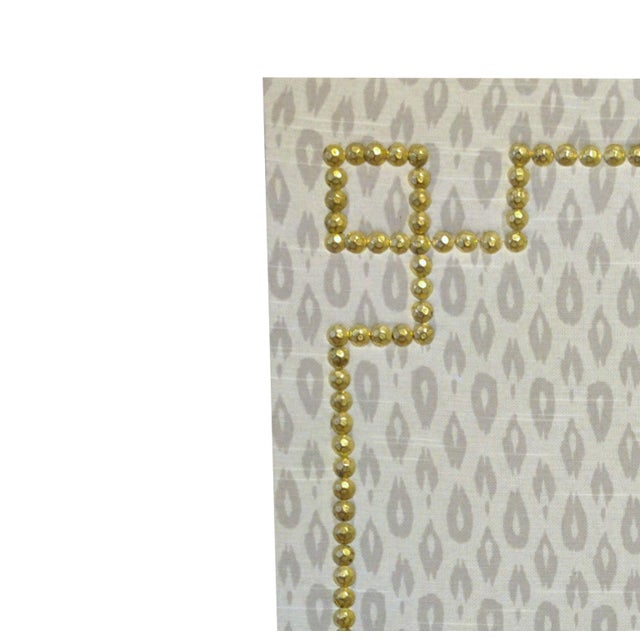 Ikat Uphosltered Cork Board with Nailhead Trim - Image 2 of 2