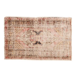 "Vintage Distressed Oushak Rug - 2'7"" X 3'11"" For Sale"