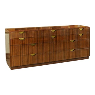 Exceptional Vintage Modern Walnut Ten-Drawer Chest by Baker For Sale