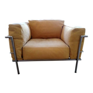 Italian Alivar Le Corbusier Lc3 Grand Modele Armchair For Sale