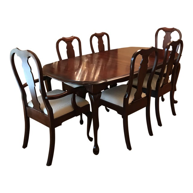 pennsylvania house cherry dining room furniture | Pennsylvania House Solid Cherry Dining Room Set | Chairish
