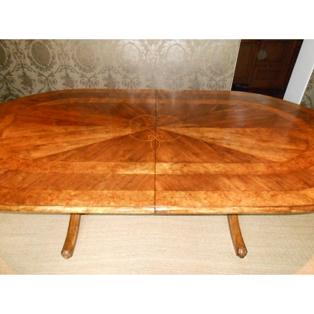 Wood Batavia Pedestal Base Dining Table For Sale - Image 7 of 11