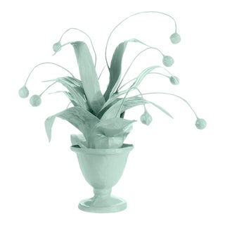 Stray Dog Designs for Chairish Crunchberry Faux Plant, Light Blue For Sale