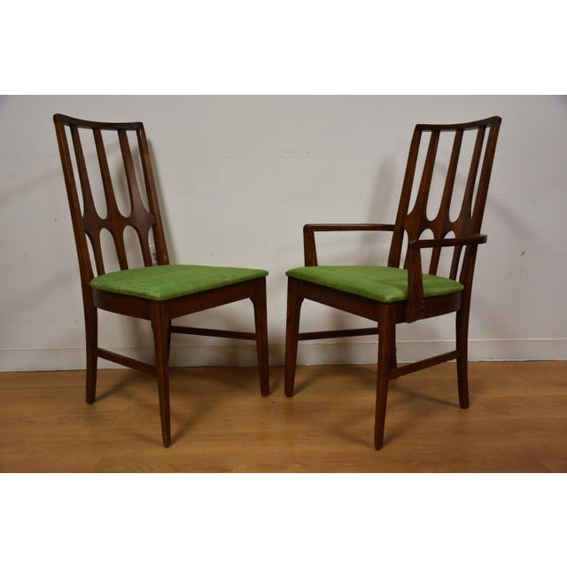 Broyhill Brasilia Walnut Dining Chairs - Set of 8 - Image 5 of 11