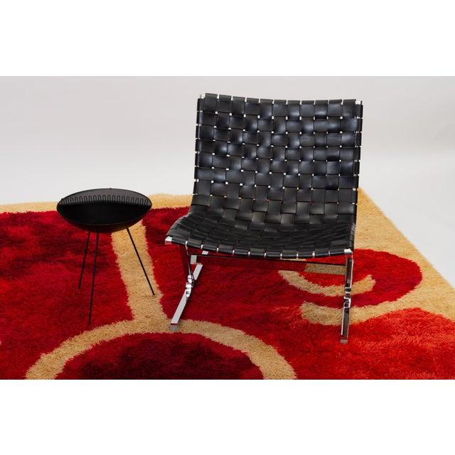 1960s Scandinavian Modern Op Art Shag Area Rug - 8′1″ × 11′5″ For Sale - Image 4 of 8