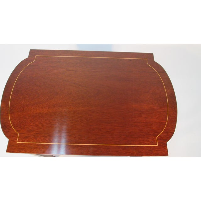 Wood 1960s Georgian Mahogany Nesting Tables - Set of 3 For Sale - Image 7 of 10