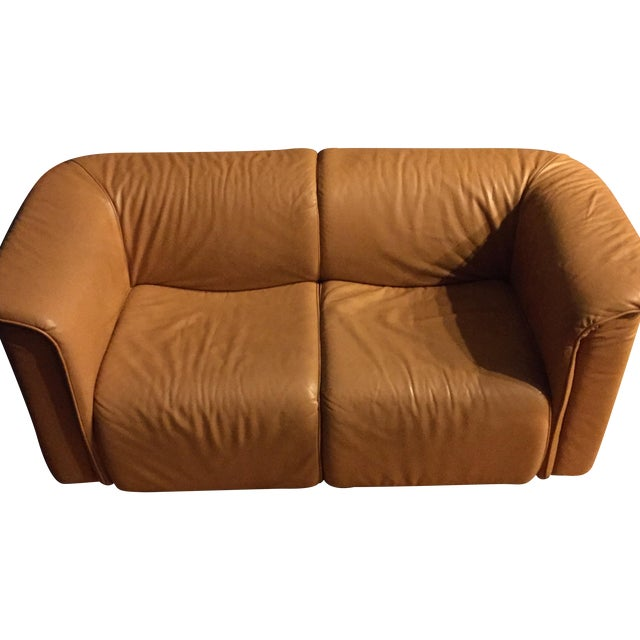 Karl Wittmann 1970s Brown Leather Sofas - A Pair - Image 1 of 5